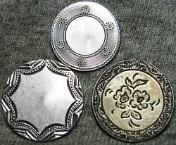Lot Of 3 Love Tokens Seated Liberty Dime And Half Dime Flower 1862 1843 - C076
