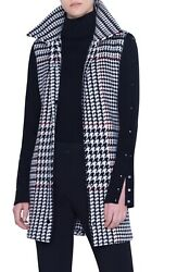 Akris Punto Lacquered Trench Coat With Removable Check Vest Sz 48 = Us 16 - Nwt