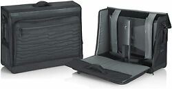 Gaming Monitor Tote Bag Water Resistant Zippers w Strap Fits 27-28