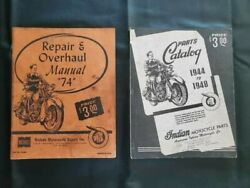 Indian Motorcycle 74 Cid Repair And Overhaul Manual And Parts Catalog