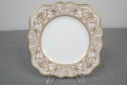Wedgwood Gold Florentine W4219 Square Luncheon Plate 8 3/8 Sq Sold Individually