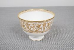 Wedgwood Gold Florentine W4219 Footed Open Sugar Bowl Free Shipping