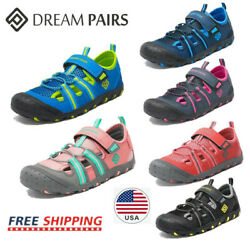DREAM PAIRS Boys Girls Closed Toe Breathable Athletic Outdoor Summer Sandals $14.99