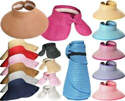 Packable Roll Up Sun Visor Beach Straw Hat $8.95
