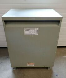 Ge 75 Kva 3 Phase Dry Transformer 480 To 480 277 Volt Ql 9t23q3855g15 - Tested