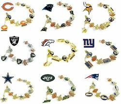 Charm Bracelet New Official Nfl Fits 7-1/4 - 7-1/2 Jewelry Ladies Choose Team