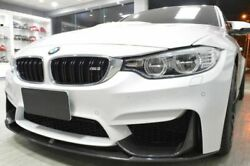 Front Bumper Lip Spoiler Valance With Aprons For Bmw M3 F80 + M4 F82 / F83 2014