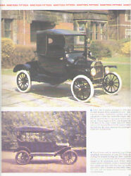1915 Ford Model T Article - Must See Runabout + Couplet + Touring Car + Sedan