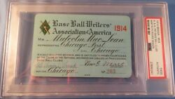 1914 Babe Ruth DebutFirst Hit Ticket  Pass PSA First Win Pitcher Boston Red Sox