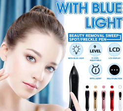 Generic 9 Level Remover Pen Skin Mole Spot Face Lcd Laser Freckle Wart Tag