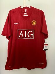 Ronaldo 2007-08 Manchester United Home Autographed Signed Shirt Jersey