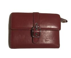 Red Coach Snap Wallet Used Good Condition $34.99