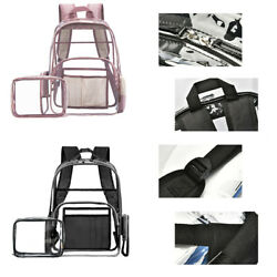 Clear Transparent PVC Backpack Travel Satchel Backpack Shoulder Bookbag forWomen $33.24