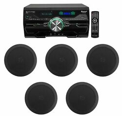 Dv4000 4000w Bluetooth Home Theater Dvd Receiver+5 5.25 Black Ceiling Speakers