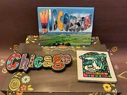 Chicago Wisconsin Niagara Falls Maid Of The Mist Souvenir Magnet Lot Of 3