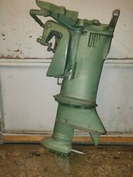 Parting Out Johnson Evinrude Rd-14 1953 25hp Outboard Half