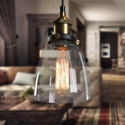Retro Glass Hanging Lamp Shade Edison pendant light wall lamp ceiling lamp E27