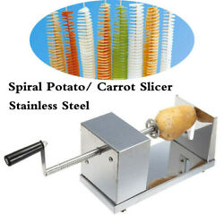 Stainless Steel Potato Spiral Slicer Cutter Twister Carrot Spiral Cutting Tool