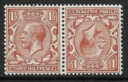 Sg 420a 1andfrac12d Brown Block Cypher Tete Beche Pair Unmounted Mint