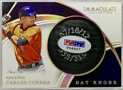 Carlos Correa 2016 Immaculate Collection Bat Knobs One Of One Bat Knob. 1/1
