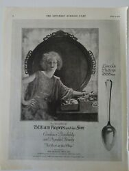 1920 William Rogers And Son Silverplate Lincoln Pattern Vintage Silverware Ad