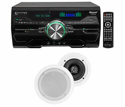 Dv4000 4000w Bluetooth Home Theater Dvd Receiver+2 5.25 White Ceiling Speakers