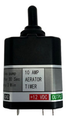 Pactrade Marine Boat Aerator Livewell Timer 10amp 3position Toggle 30sec/3mins.
