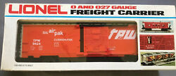 Lionel 6-9424 Tpw -toledo, Peoria And Western Railway Boxcar Ob-nos 9h