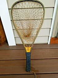 Antique Cortland Line Co. It Floats Fishing Net 5006-0 Hand Knotted Fishnet