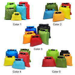5 PCS Waterproof Bag Set Roll Top Storage Dry Sack Outdoor Travel Camping Pouch $13.15