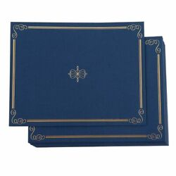 24-pack Certificate Holder Diploma Award Letter-sized Navy 11.2 X 8.7 Inches