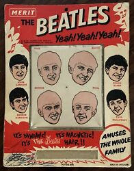 Fab Original 1964 The Beatles Magnetic Hair Game Made In The Uk By Merit