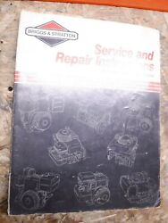 1990 Briggs And Stratton 4 Cycle Single Cylinder Engine Factory Repair Manual