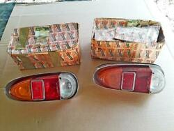 Maserati 3500gt Nos Rear Tail Light Assemblies2 With Gaskets And Boots