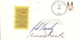 Edward M. Ted Kennedy - Envelope Signed Circa 1974 With Co-signers
