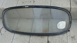 Vw Beattle Convertible Rear Window Glass Early Style Curved Prior To 1975