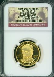 2011-w 10 Gold Eliza Johnson First Spouse Ngc Pr69 Pf69 Pf-69 Early Releases Er
