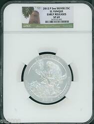 2012-p El Yunque Np America Beautiful Atb 5 Oz. Silver Ngc Sp69 Early Release Er