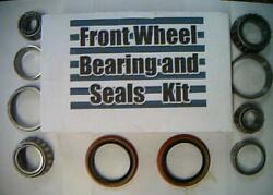 Four Front Wheel Bearings2 Seal Nova Chevy Ii 1962-79-replace These Worn Parts