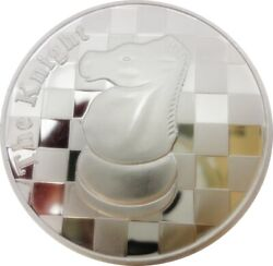 Chess Coin - The Knight - 1 Troy Oz .999 Silver Round - 1 9/16andquot Dia.