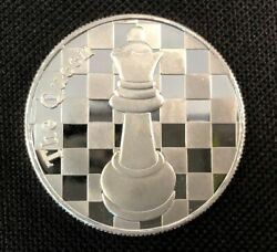 The Queen - 1 Troy Oz .999 Silver Round Chess Coin - 1 9/16andquot Dia.