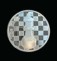 The King - 1 Troy Oz .999 Silver Round Chess Coin - 1 9/16andquot Dia.