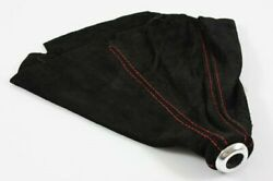 Universal Usa Sport Leather Black Suede Red Stitched Manual Auto Shift Boot