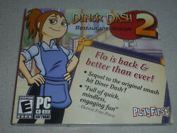 New Pc Engine Cd-rom Game Diner Dash 2 Restaurant Rescue Playfirst Software