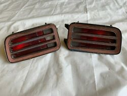 1970 Cuda Tail Light Barracuda Taillights Housings Lens Grill Grilles Pair