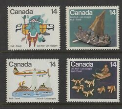 Canada No 769 To 772 Inuit Travel Native Americans Mint Nh