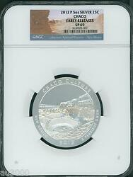 2012-p Chaco Culture America Beautiful Atb 5 Oz Silver Ngc Sp69 Early Release Er