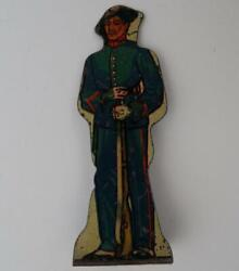 Marx Tin Metal Lithograph Toy Soldiers Targets Set Of 8 Made In Usa C1930s