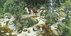 Bev Doolittle The Forest Has Eyes-wss Print-camouflage-horse-trapper-stream