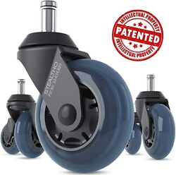 Replacement Office Chair Caster Wheels Protect Your Floor Quick And Quiet